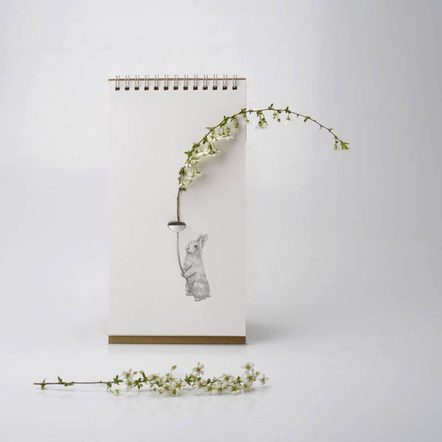 vase bloc-notes flip vase animaux