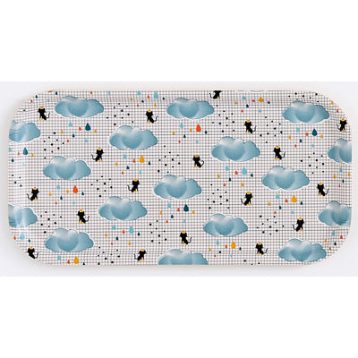 plateau rectangle chat pluie bandjo