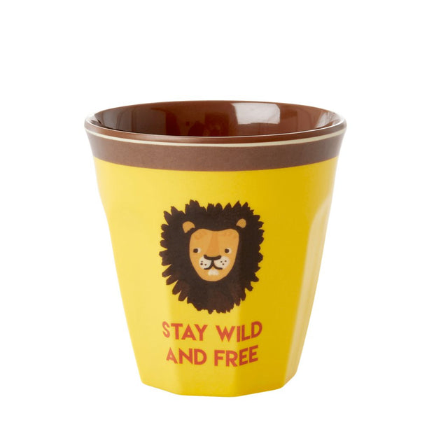 gobelet jaune lion enfant rice wild and free
