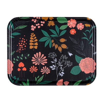 plateau rectangle mini labo motif herbier