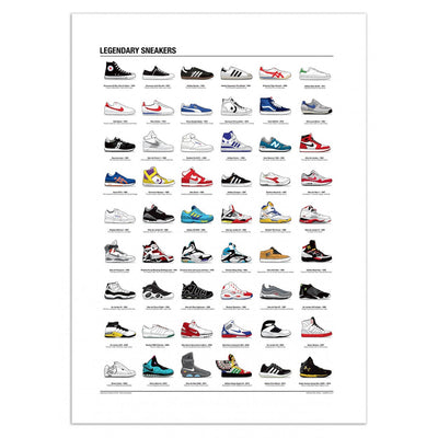 Poster Legendary Sneakers Olivier Bourdereau Wall Editions