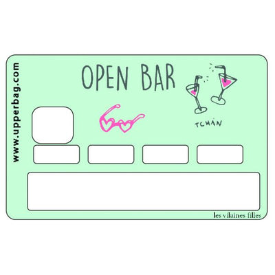 sticker de carte bleue open bar les vilaines filles