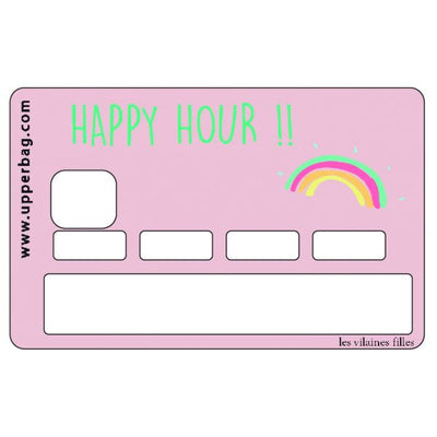 autocollant carte bleue happy hour