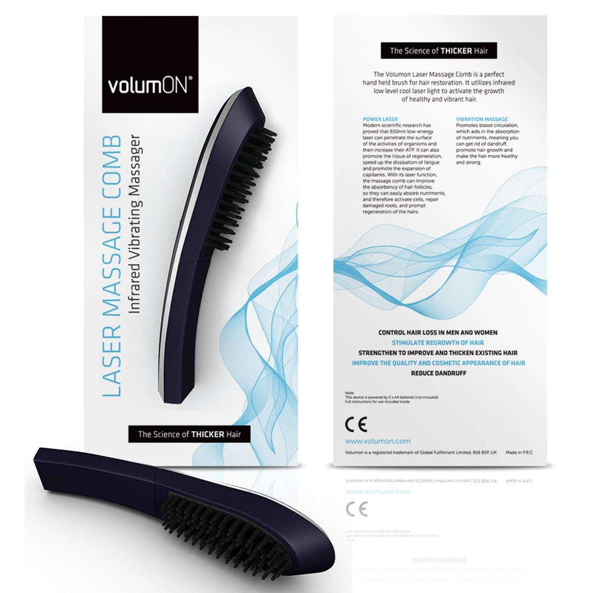 Electric Laser Massage Comb by  Volumon