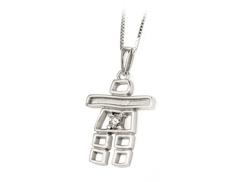 Canadian Diamond Inuksuk Pendant with Chain