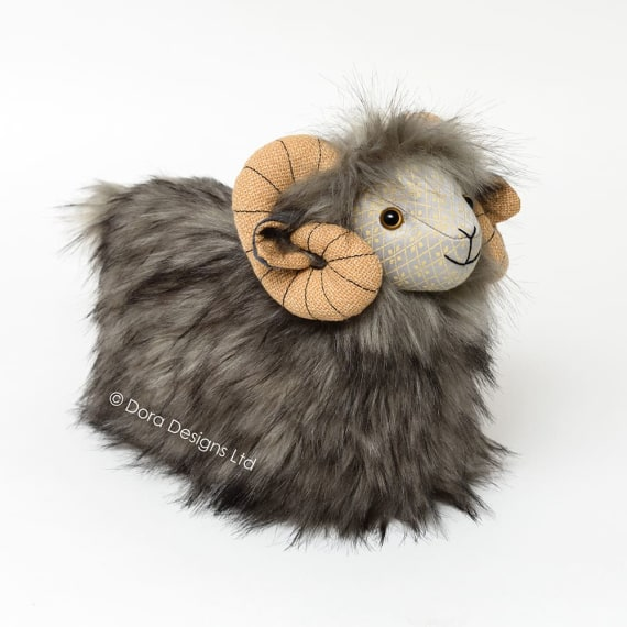 Posh Heardy Herdwick Sheep Doorstop