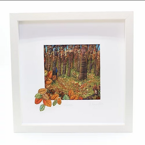 The Seasons - Framed Textile by Anita Reynolds