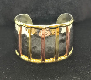 Gold, Silver and Copper Bracelet