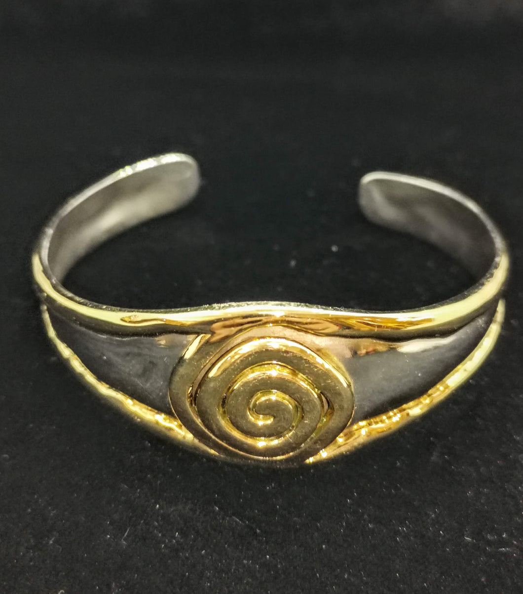Simple Gold and Silver Celtic Bracelet