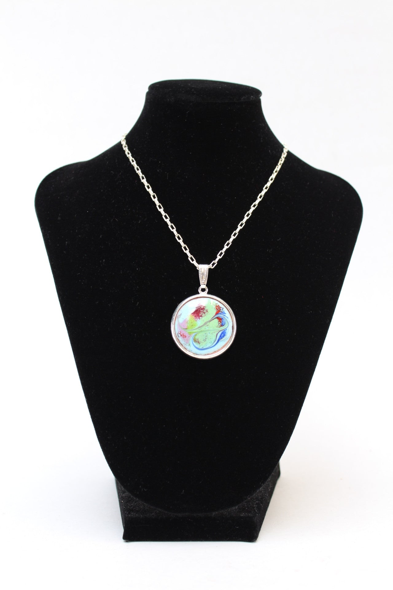 Meab Enamels - Silver Plated Pendant