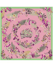 Load image into Gallery viewer, Powder - Floral Hedgehog Satin Square