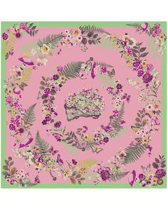 Powder - Floral Hedgehog Satin Square