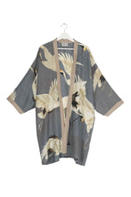 Load image into Gallery viewer, Stork Slate Grey Collar Kimono