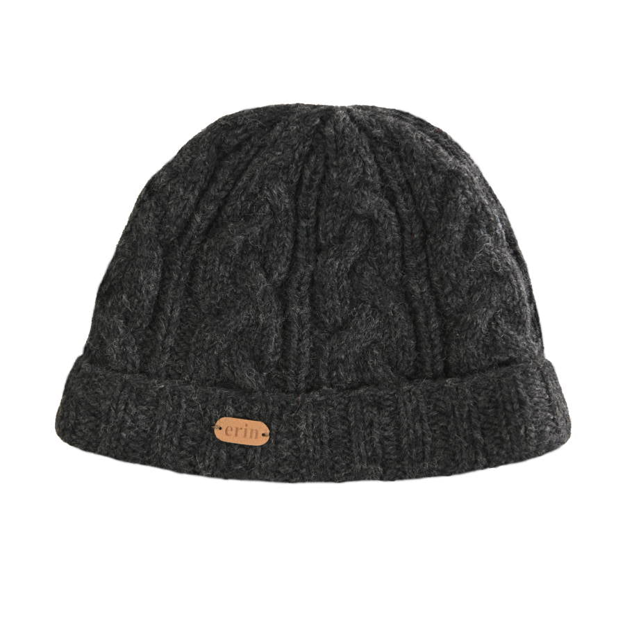 Aran Cable Turnup Hat