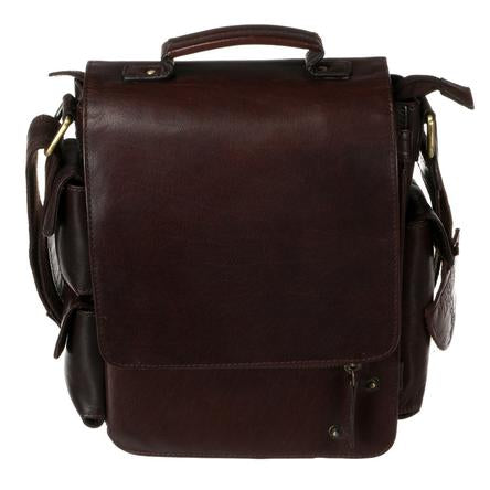 Tinnakeenly Brown Leather Utility Bag