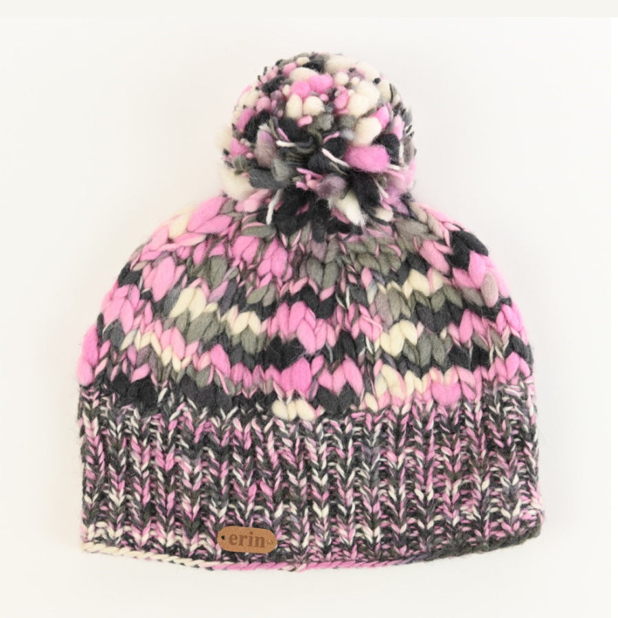 Uneven Wool Bobble Hat