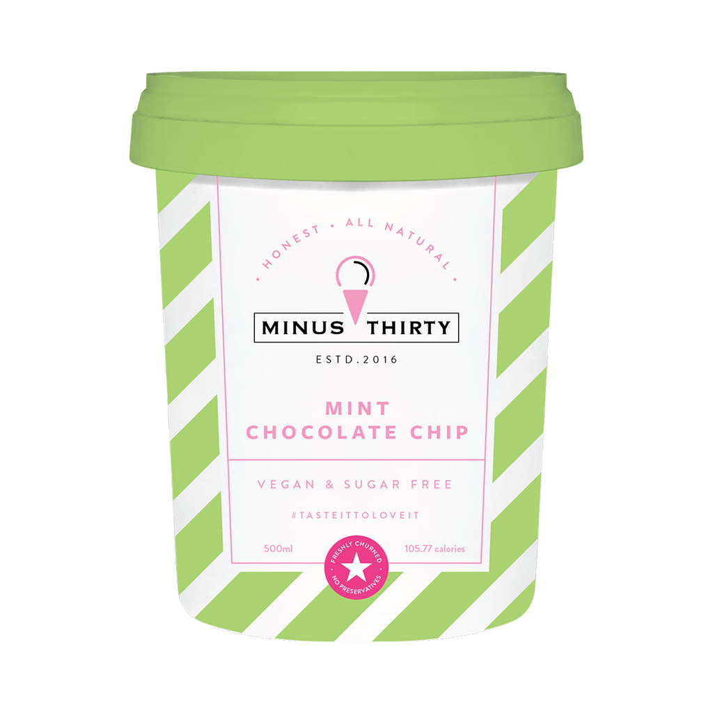 Mint Chocolate Chip Vegan and Sugar Free