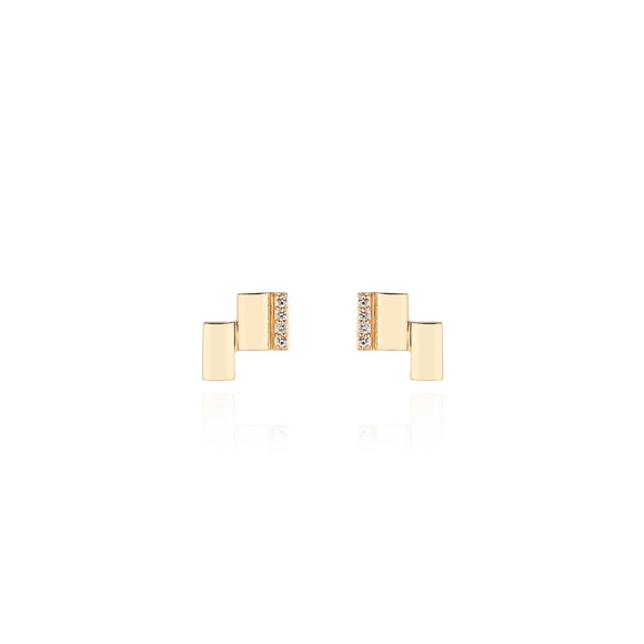 Deco Bar Stud Earrings