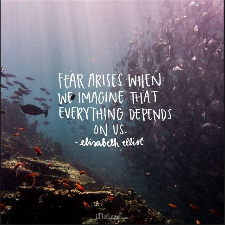 Facing fears by focusing on Christ