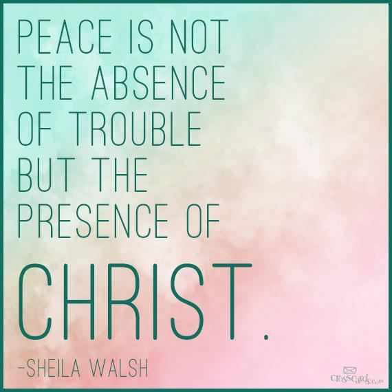 Choose peace today....