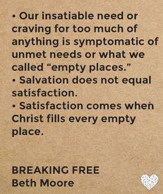 Week 2, Day 3 'Breaking Free' Bible study observations