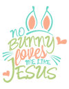 No bunny loves me like Jesus Youth Tee - Shepherds Treasure