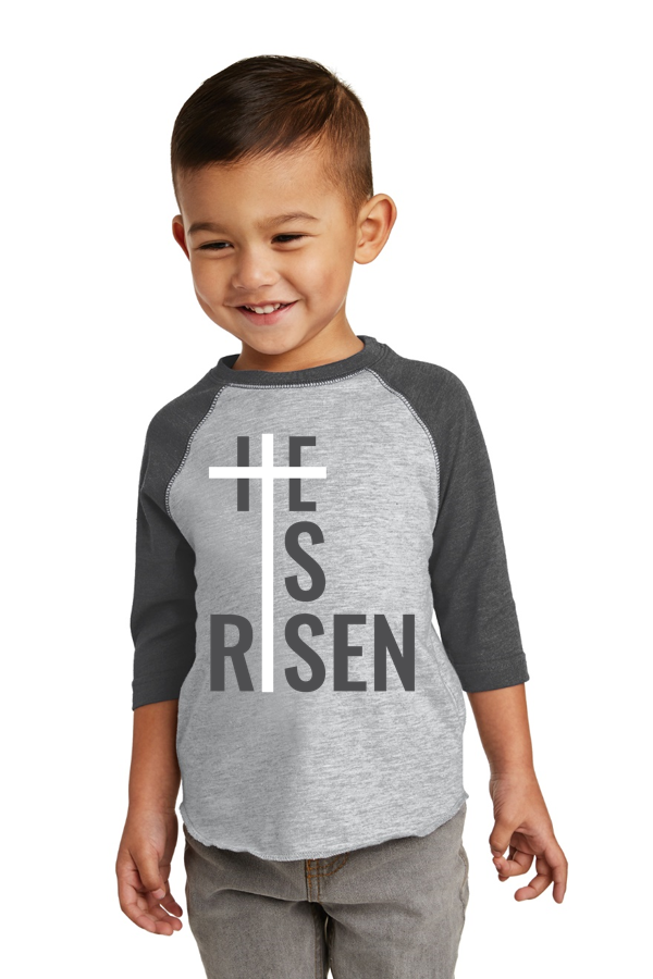 He is Risen Raglan Toddler Tee