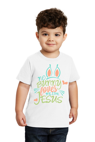 No bunny loves me like Jesus Toddler Tee