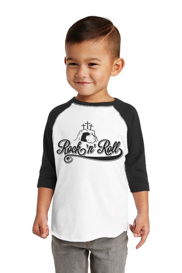 Rock and Roll Toddler Raglan Tee