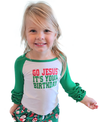 'Go Jesus, it's Your Birthday!' Baseball T for girls ($12.95) - Shepherds Treasure