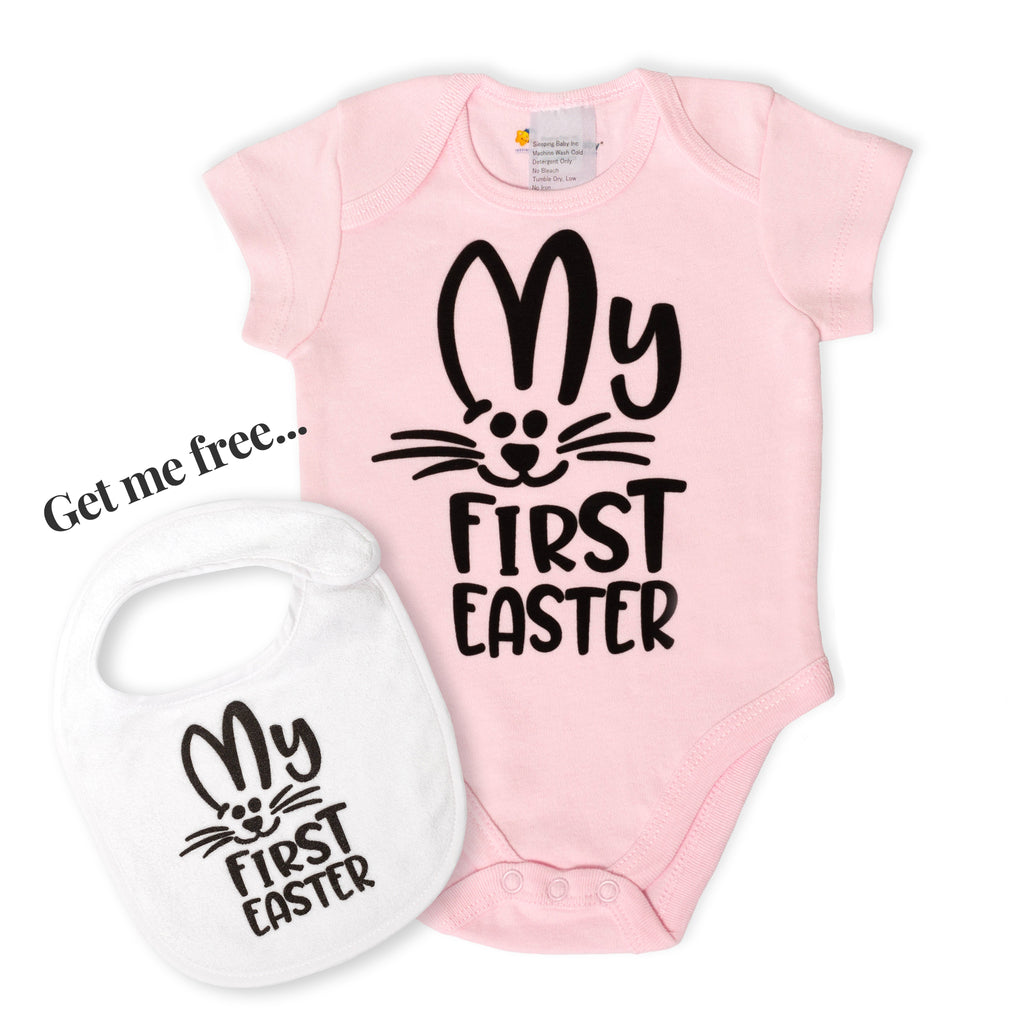 Easter Baby Body Suit and FREE Bib!