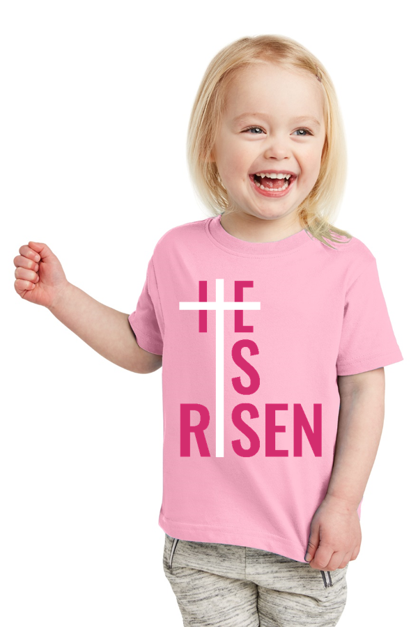 He is Risen Toddler Tee - Shepherds Treasure