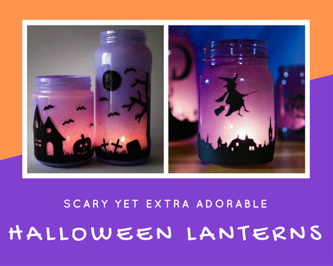 How to Make Glowing Halloween Lanterns