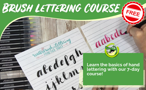 Watercolor Brush Lettering Course