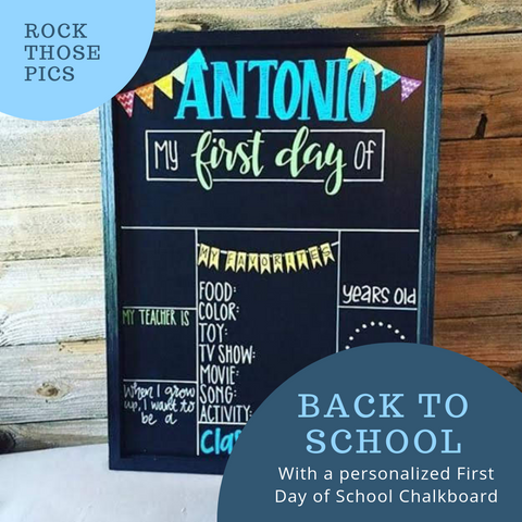 Best Artists for a Unique Handmade First Day of School Chalkboard