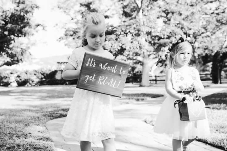 Wedding Signs for little girls