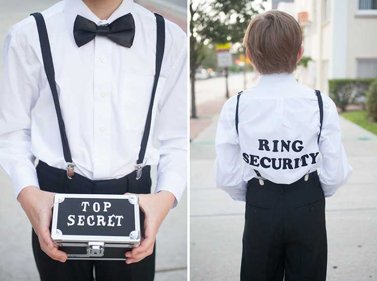 Wedding signs ring security