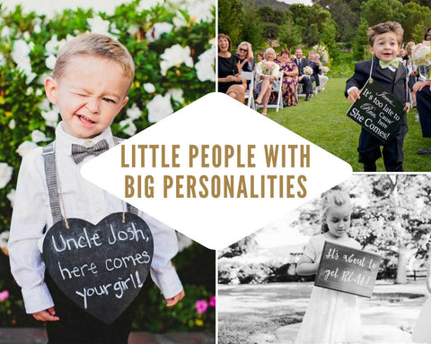 Wedding Signs for Little People with Big Personalities