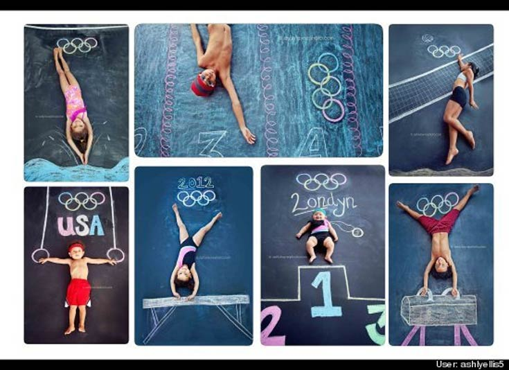 2016 Rio Olympic Games Chalk Drawing
