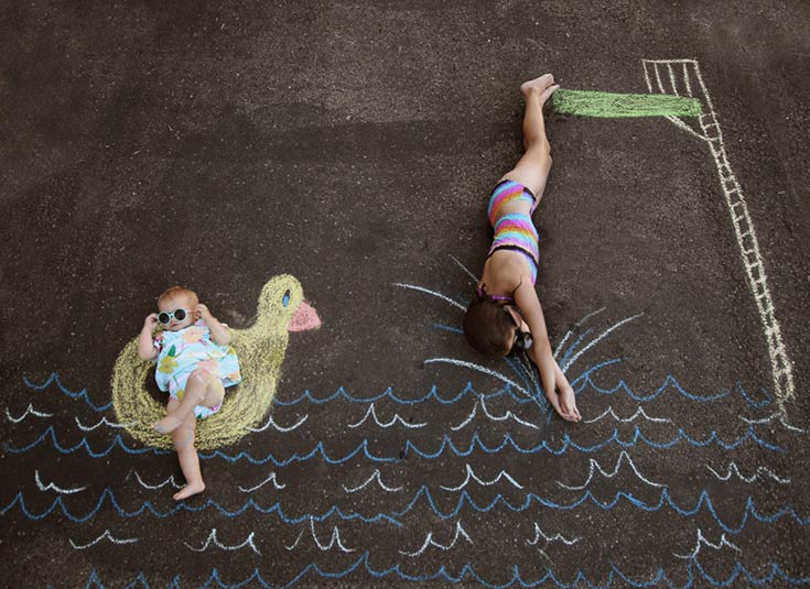 2016 Rio Olympic Games Diving Chalk Art