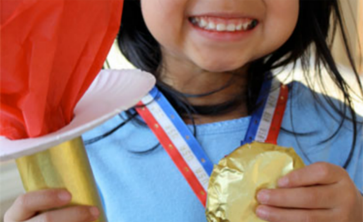 Gold Metal Cookie and Olympic Torch