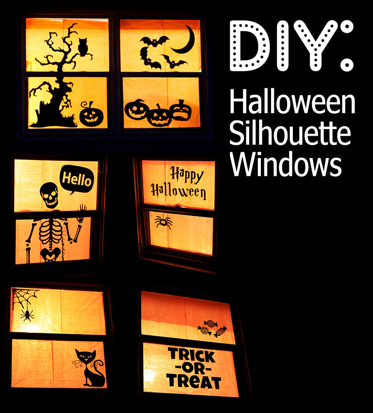 Window Silhouette for Halloween
