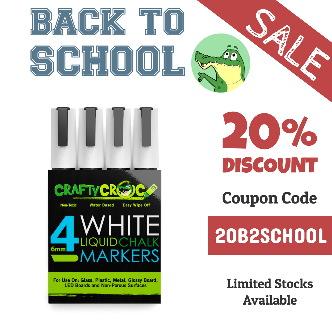 All White Chalk Markers Crafty Croc