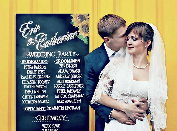 10 must have wedding chalkboard signs Wedding Party