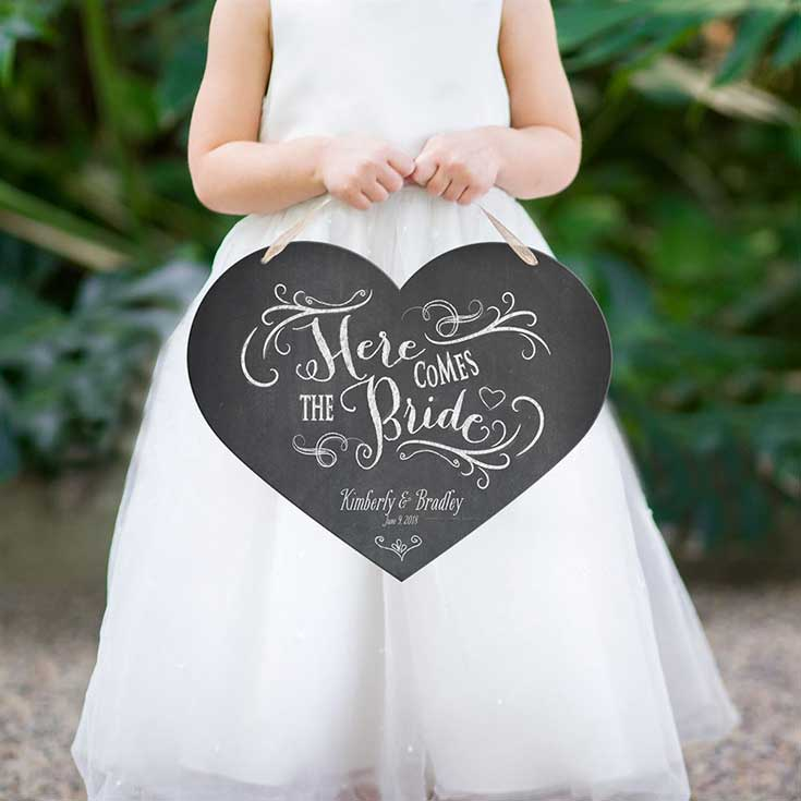 4. Must have weeding signs - Here comes the bride