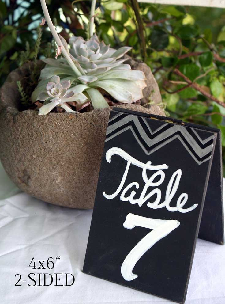 Wedding must have chalkboard signs table number