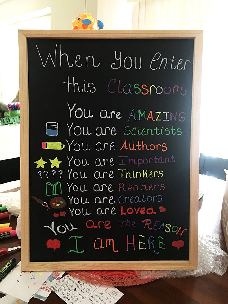 When you enter this classroom you are...