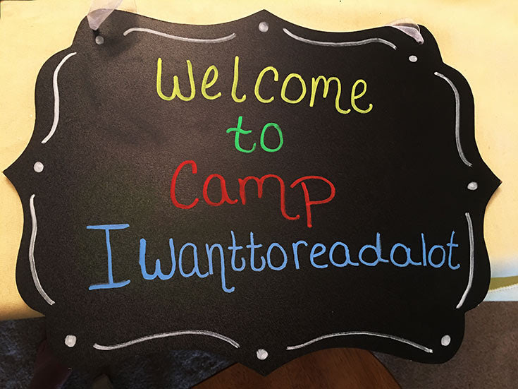 Welcome to camp read alot chalkboard