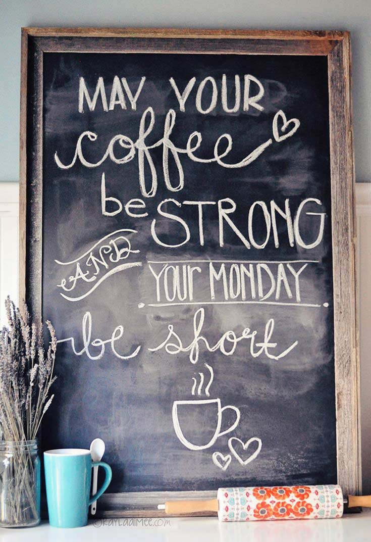 Coffee Quotes for Chalkboards