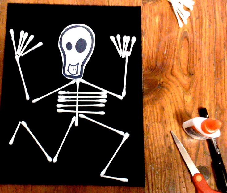 Easy Skeleton Craft for kids
